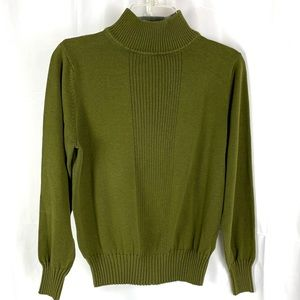 Dress Barn size M Olive Green high neck sweater